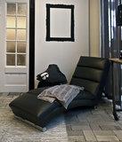 Actona - Sofa Inhouse zwart chaise longue sfeer