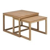 Pit-Art collectie - Salontafel Bakoe set 2 tafels naturel hout