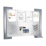 Kerkmann - Infobord glas met metaal en magneten