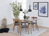 Meubelen-Online - Complete eethoek Sevilla hout met grijs