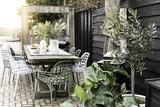 Meubelen-Online - Tuinstoel Albert Kuip wit aluminium merk Zuiver om tafel