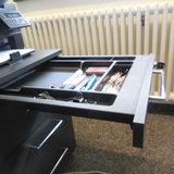 Ladeblok antraciet 3 lades 80cm diep afsluitbaar pennenlade