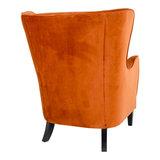 Meubelen-Online - Fauteuil Oxford velours oranje oorfauteuil achterkant