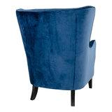 Meubelen-Online - Fauteuil Oxford velours blauw oorfauteuil achterkant