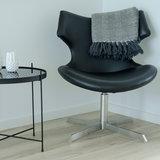 Meubelen-Online - Fauteuil Suzy zwart kunstleer draaifauteuil sfeer