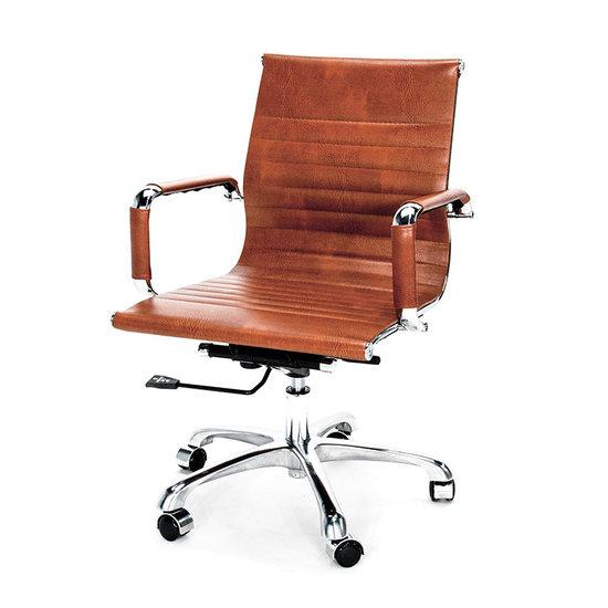 Luxe bureaustoel van stof of vintage leer meubelen online for Bureaustoel vintage