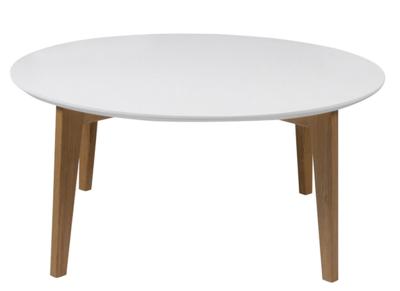 wit houten poten trendy salontafel met een wit blad en houten poten ...