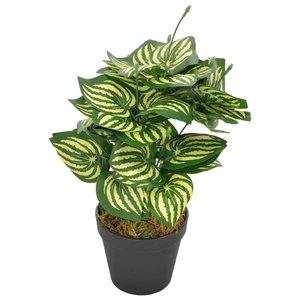 Kunstplant met pot watermeloenplant 45 cm groen