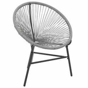 Rotan fauteuil Rondo poly rattan grijs