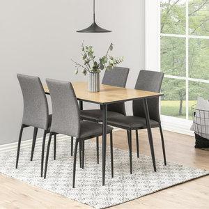 Meubelen-Online - Eethoek Nordesign tafel 120x80cm met 4 stoelen