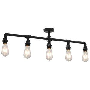 Meubelen-Online - Plafondlamp Indus voor 5xE27 zwart