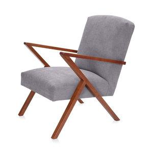 Meubelen-Online - Fauteuil Retrostar stof grijs vintage design