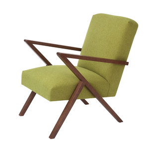 Meubelen-Online - Fauteuil Retrostar stof groen vintage design