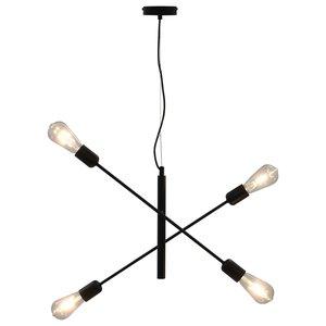 Meubelen-Online- Hanglamp Stylo met Led lampen 2 W E27 zwart