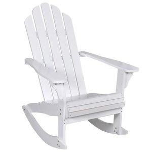 Meubelen-Online - Tuinstoel Rocky schommelstoel hout wit