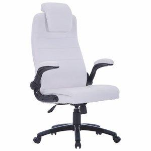 Meubelen-Online - Bureaustoel Wise wit ergonomisch kunstleer