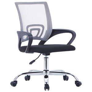 Meubelen-Online - Bureaustoel Mesh ergonomisch rugleuning stof grijs