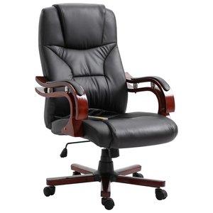 Meubelen-Online - Bureaustoel Dennis ergonomisch kunstleer zwart
