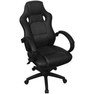 Meubelen-Online - Bureaustoel Tropez gamechair zwart ergonomisch