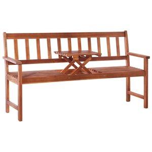 Meubelen-Online - Tuinbank met tafel Arno 3-zits 158 cm acaciahout bruin