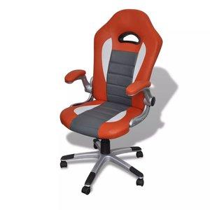Meubelen-Online - Bureaustoel gamestoel Fantast ergonomisch grijs oranje