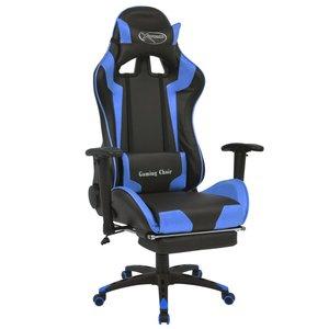 Bureaustoel Met Voetsteun.Bureaustoel Gamestoel Mario Verstelbaar Met Voetsteun Blauw