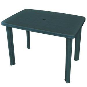 Meubelen-Online - Tuintafel Arno 101x68x72 cm kunststof groen