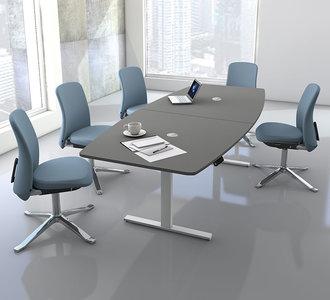 Kerkmann - Zit sta vergadertafel Teamwork grijs 250x105cm