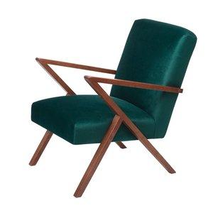 Sternzeit-design - Fauteuil Retrostar velvet groen vintage design