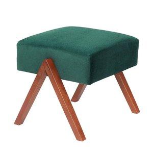 Sternzeit-design - Voetenbank Retrostar velvet groen vintage design