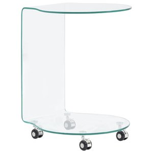 Meubelen-Online - Laptoptafel Andrea 45x40x58 cm gehard glas