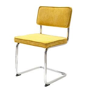 Meubelen-Online - eetkamerstoel Gatsby - rib stoel geel