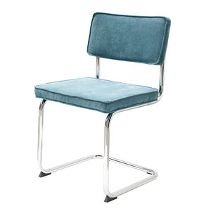 Meubelen-Online - eetkamerstoel Gatsby - rib stoel blauw