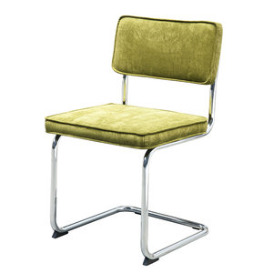 Meubelen-Online - eetkamerstoel Gatsby - rib stoel groen