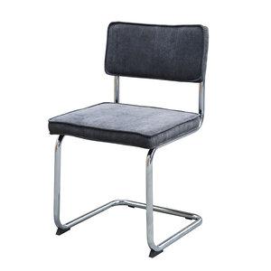 Meubelen-Online - eetkamerstoel Gatsby - rib stoel grijs