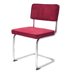 Meubelen-Online - eetkamerstoel Gatsby - rib stoel rood