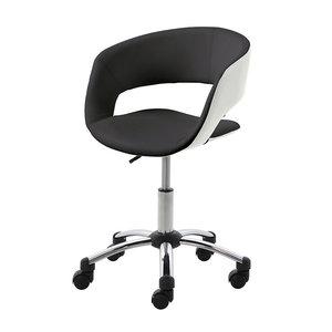 Bureaustoel Happy zwart design stoel