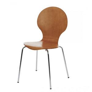 Meubelen-Online Vlinderstoel licht bruin eetkamerstoel