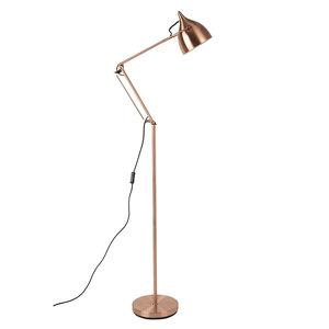 Vloerlamp Reader koper design lamp