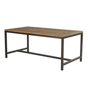 Meubelen-Online - Eettafel Vintage 90x180cm hout met metaal