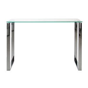 Meubelen-Online - Wandtafel Magnus glas met chroom sidetable