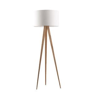 Staande Lamp Tripod hout met kap wit merk Zuiver