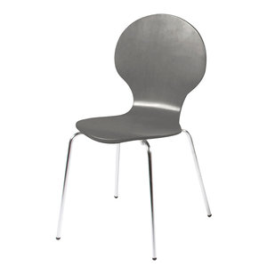 Vlinderstoel grijs eetkamerstoel