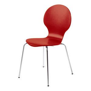 Vlinderstoel rood eetkamerstoel