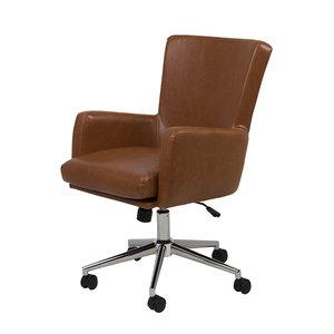 Bureaustoel cruise bruin vintage meubelen online for Bureaustoel vintage