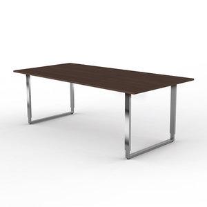 Eettafel alpha bruin hoge tafel verstelbaar meubelen online for Tafel hoogte
