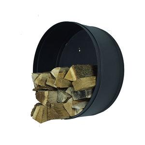 Houtmand Woodstock zwart metaal houtopslag 50cm