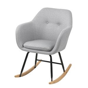 Meubelen-Online - Fauteuil Fancy schommelstoel stof licht grijs