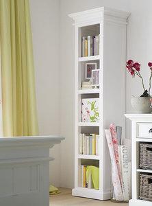 boekenkast wittevilla wit met open vakken