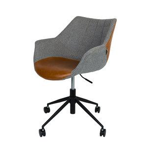 Bureaustoel Doulton vintage met armleuningen Zuiver design